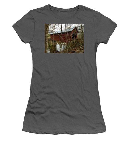 Bean Blossom Bridge Women's T-Shirt (Athletic Fit)