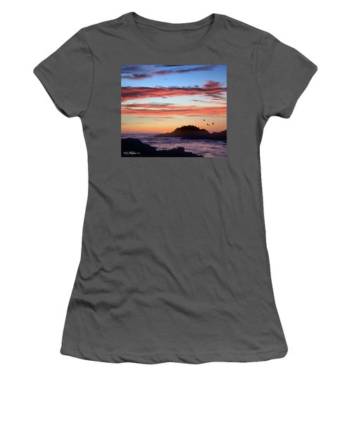 Bean Hollow Beach Women's T-Shirt (Junior Cut) by Tim Fitzharris