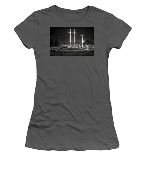 Women's T-Shirt (Junior Cut) featuring the photograph Bearing Witness In Black-and-white by Andy Crawford