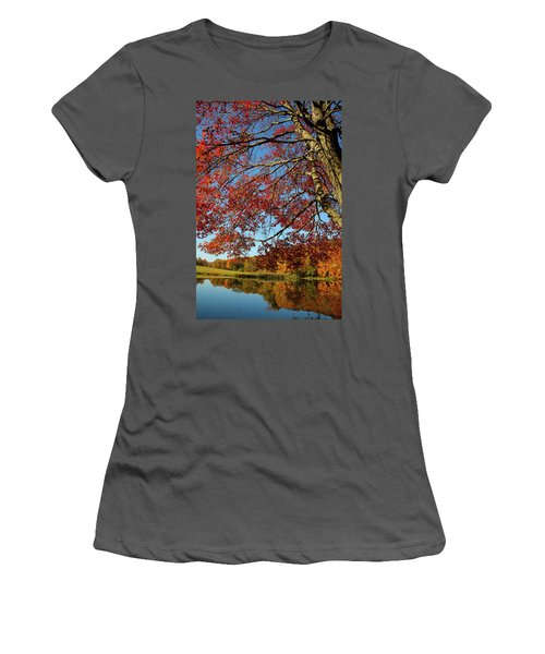 Women's T-Shirt (Junior Cut) featuring the photograph Beauty Of Fall by Karol Livote