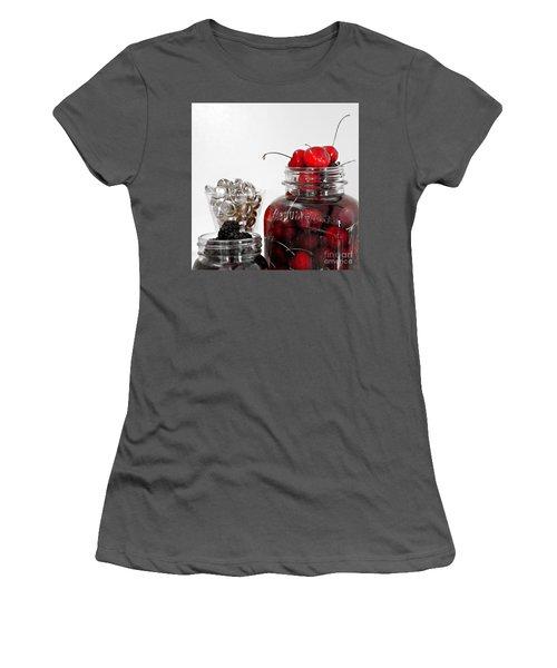 Beauty Of Red Cherries Women's T-Shirt (Junior Cut) by Sherry Hallemeier