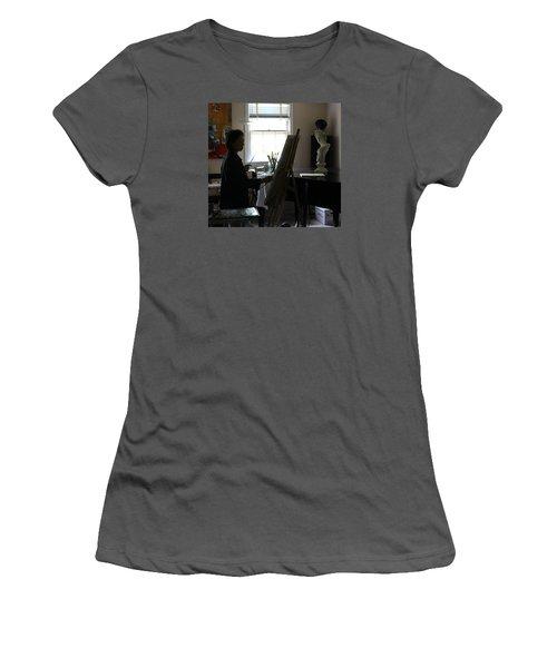 Becky Painting Chopin Women's T-Shirt (Junior Cut) by Becky Kim
