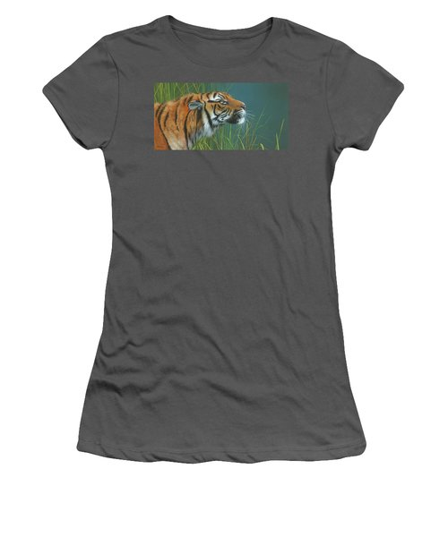 Women's T-Shirt (Junior Cut) featuring the painting Beggars Day by Mike Brown