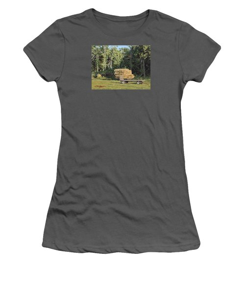 Behind The Grove Women's T-Shirt (Junior Cut) by Bruce Morrison