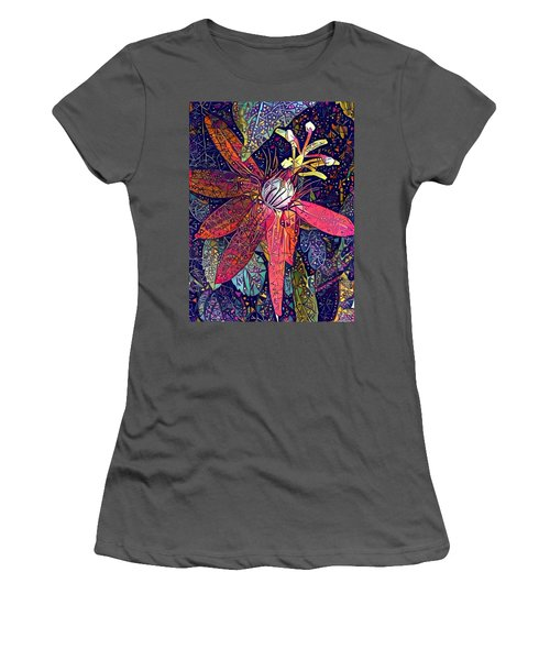 Women's T-Shirt (Junior Cut) featuring the photograph Bejeweled Passion by Geri Glavis