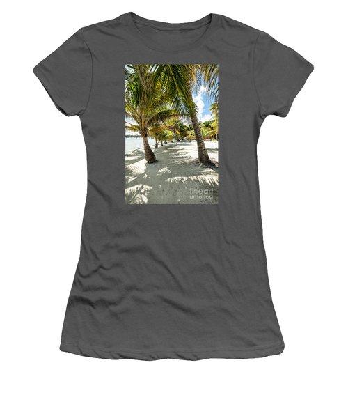 Belizean Palms Women's T-Shirt (Athletic Fit)
