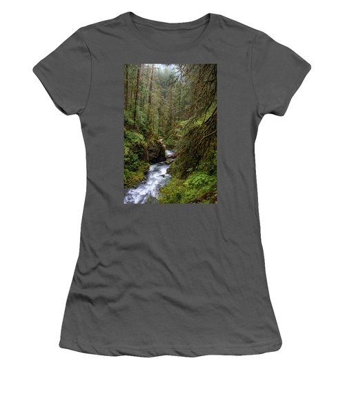Below The Falls Women's T-Shirt (Athletic Fit)