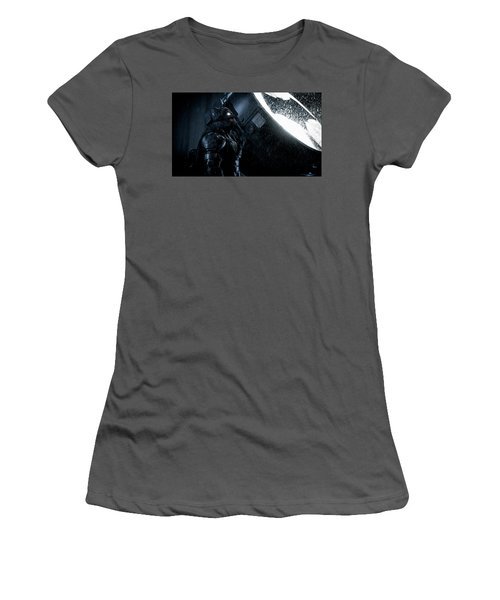 Ben Affleck As Batman Women's T-Shirt (Athletic Fit)