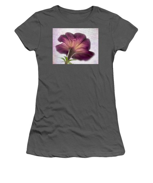 Women's T-Shirt (Junior Cut) featuring the photograph Beneath A Dreamy Petunia by David and Carol Kelly