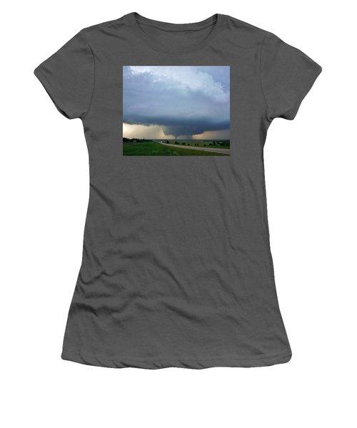 Bennington Tornado - Inception Women's T-Shirt (Junior Cut) by Ed Sweeney