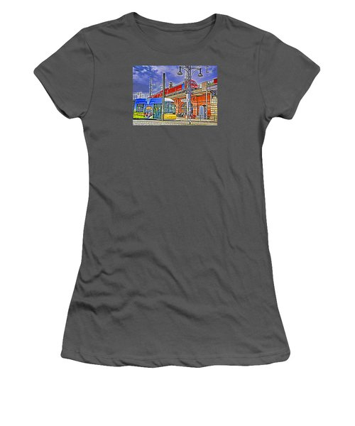 Women's T-Shirt (Junior Cut) featuring the photograph Berlin Transit Hub by Dennis Cox WorldViews