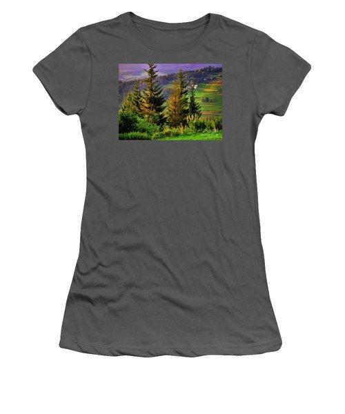 Women's T-Shirt (Junior Cut) featuring the photograph Beskidy Mountains by Mariola Bitner