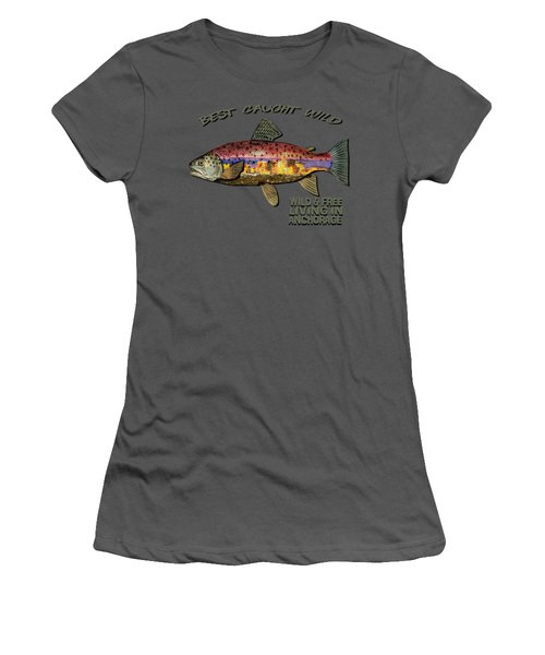 Fishing - Best Caught Wild-on Dark Women's T-Shirt (Athletic Fit)
