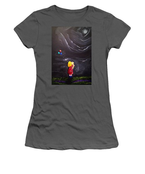 Women's T-Shirt (Junior Cut) featuring the painting Best Friends by Scott Wilmot