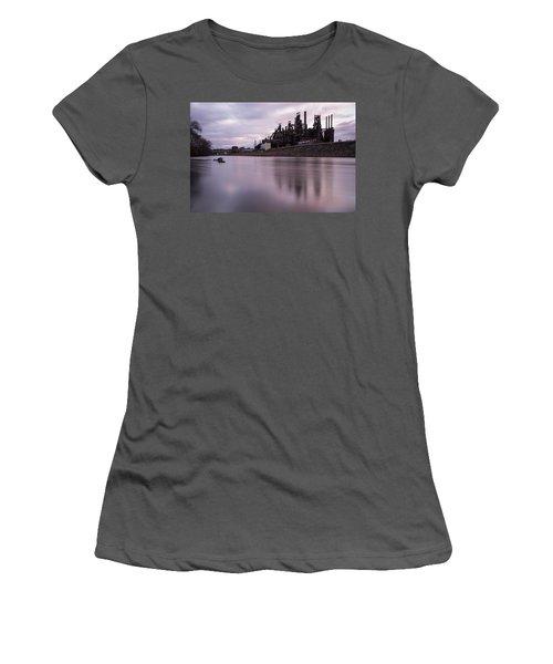 Bethlehem Steel Sunset Women's T-Shirt (Athletic Fit)