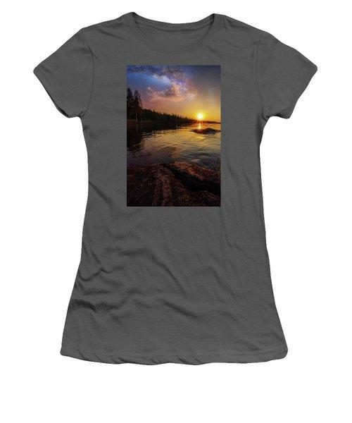 Between Heaven And Earth Women's T-Shirt (Junior Cut) by Rose-Marie Karlsen