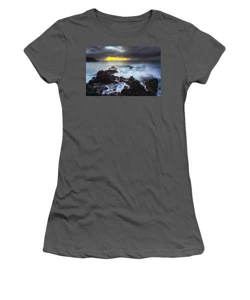 Women's T-Shirt (Junior Cut) featuring the photograph Between Two Storms by Ryan Manuel