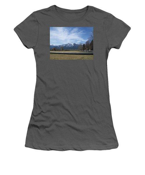 Women's T-Shirt (Junior Cut) featuring the photograph Beyond The Field by Jewel Hengen