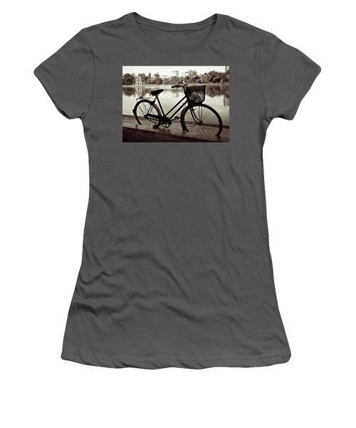 Bicycle By The Lake Women's T-Shirt (Athletic Fit)