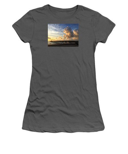 Big Cloud And The Pier, Women's T-Shirt (Athletic Fit)