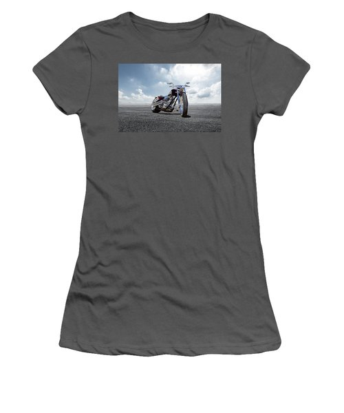 Women's T-Shirt (Junior Cut) featuring the photograph Big Dog Pitbull by Peter Chilelli