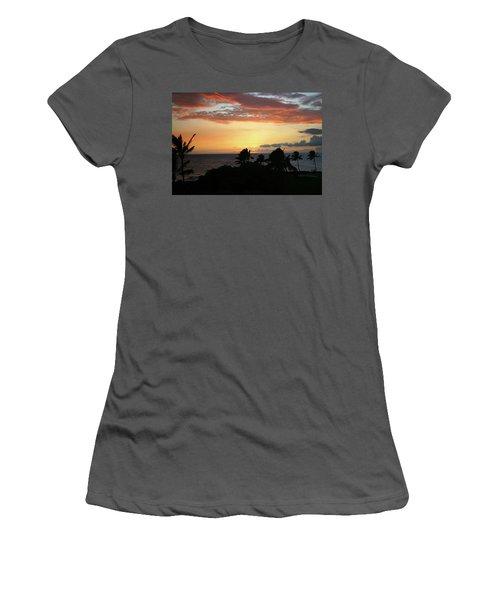 Women's T-Shirt (Junior Cut) featuring the photograph Big Island Sunset by Anthony Jones