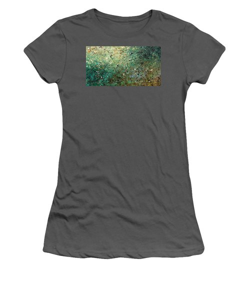 Women's T-Shirt (Junior Cut) featuring the painting Big Universe - Abstract Art by Carmen Guedez