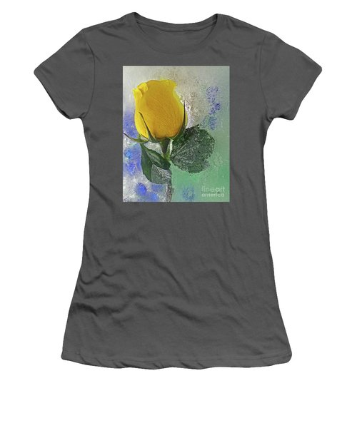 Women's T-Shirt (Junior Cut) featuring the digital art Big Yellow by Terry Foster