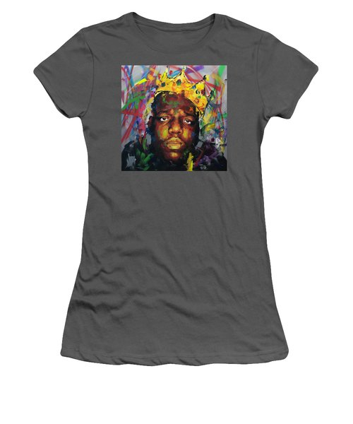 Women's T-Shirt (Junior Cut) featuring the painting Biggy Smalls II by Richard Day