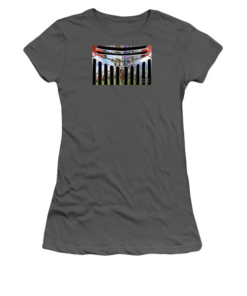 Chevrolet Grille 02 Women's T-Shirt (Junior Cut) by Rick Piper Photography