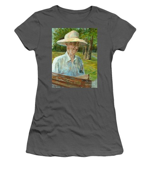 Bill Hines The Legend Women's T-Shirt (Athletic Fit)