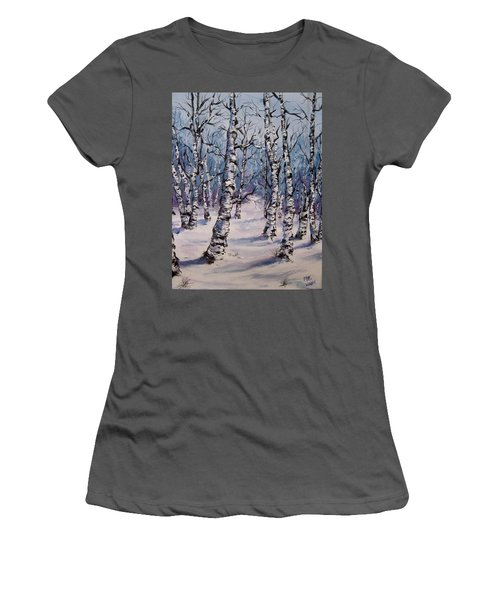 Birch Forest  Women's T-Shirt (Athletic Fit)