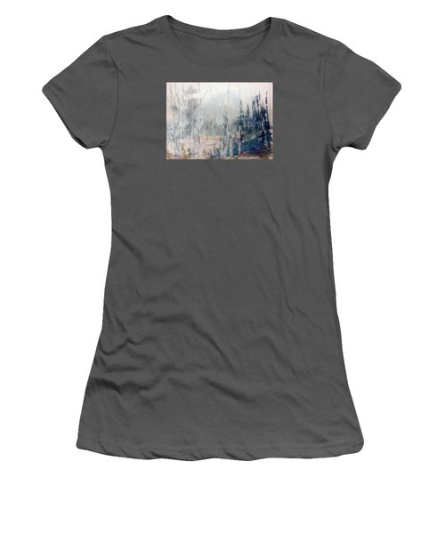 Birches In Haze  Naim's Enchatned Forest Women's T-Shirt (Athletic Fit)