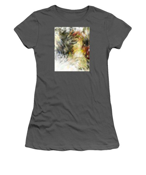 Women's T-Shirt (Junior Cut) featuring the digital art Birth Of Feathers by Dale Stillman