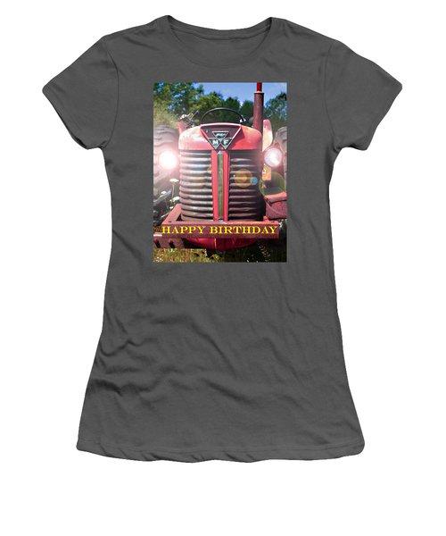 Birthday Card -- Big M-f Women's T-Shirt (Athletic Fit)
