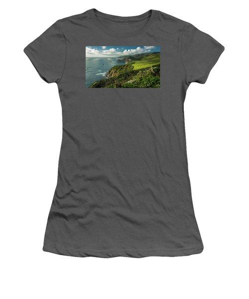 Bixby Bridge On The Coast Women's T-Shirt (Athletic Fit)