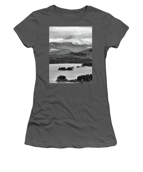 Women's T-Shirt (Junior Cut) featuring the photograph Black And White Breckenridge by Dan Sproul