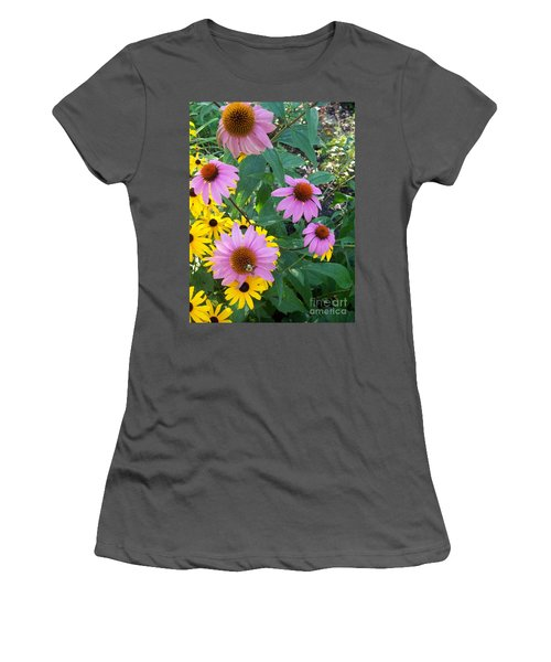 Black Eye Susans And Echinacea Women's T-Shirt (Athletic Fit)