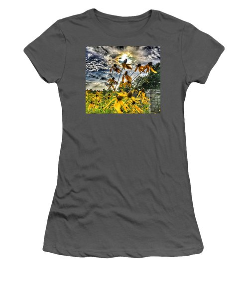 Black Eyed Susan Women's T-Shirt (Junior Cut) by Sumoflam Photography