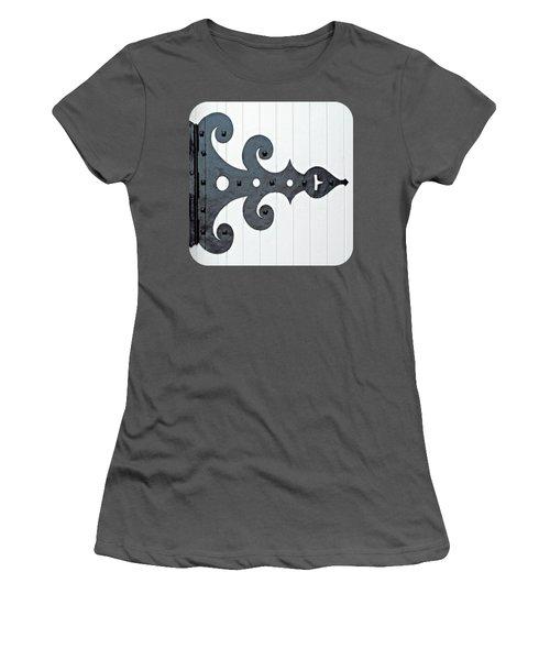 Black On White Women's T-Shirt (Junior Cut) by Ethna Gillespie