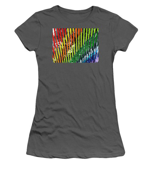 Black Rainbow Women's T-Shirt (Athletic Fit)