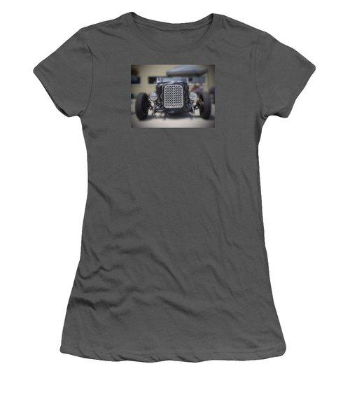 Black T-bucket Women's T-Shirt (Athletic Fit)