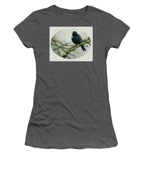 Blackbird Painting Women's T-Shirt (Junior Cut)