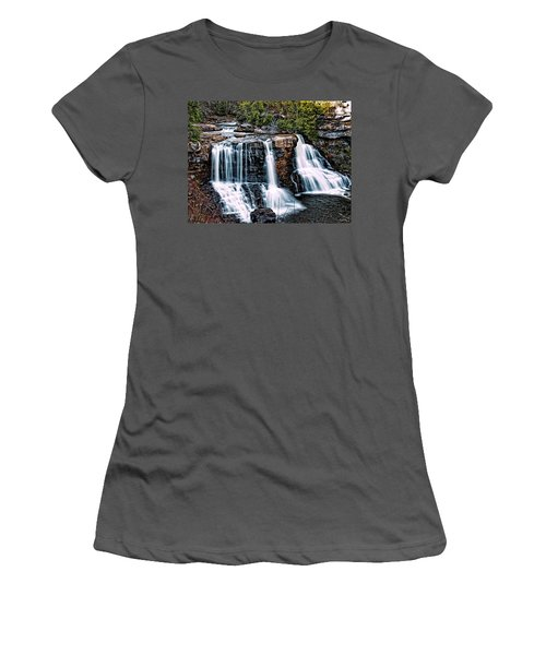 Blackwater Falls, West Virginia Women's T-Shirt (Junior Cut) by Skip Tribby