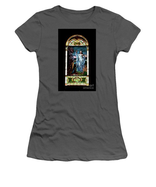 Blessed By Jesus Women's T-Shirt (Athletic Fit)