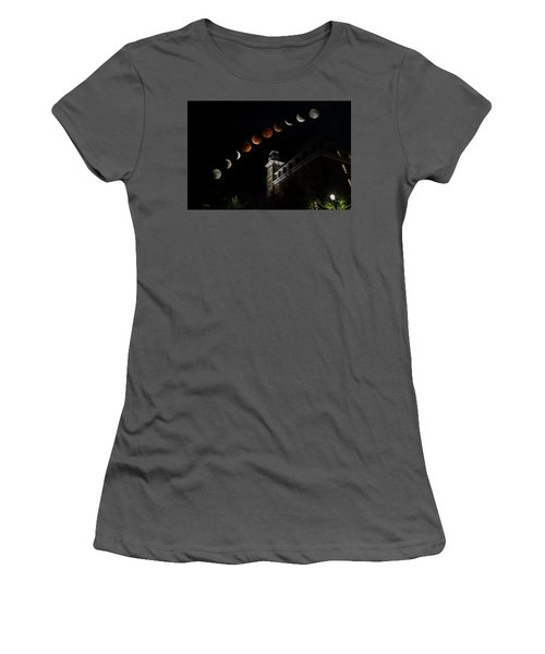 Blood Moon Over Old Main Women's T-Shirt (Athletic Fit)