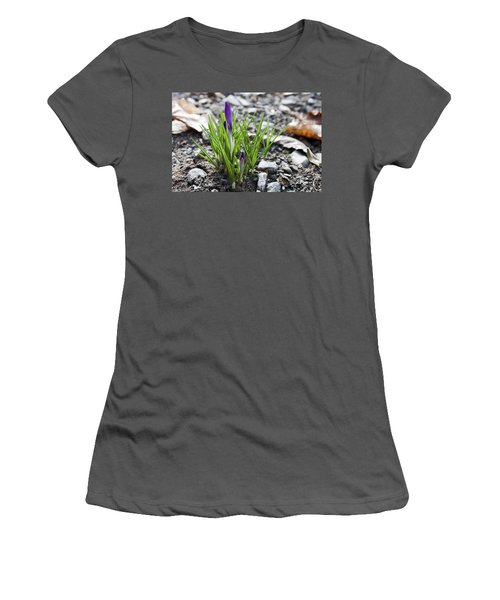 Bloom Awaits Women's T-Shirt (Athletic Fit)