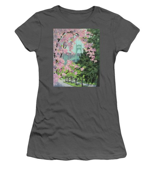 Blossoming Bridge Women's T-Shirt (Athletic Fit)