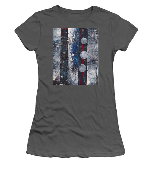 Blue Black Collage Women's T-Shirt (Athletic Fit)