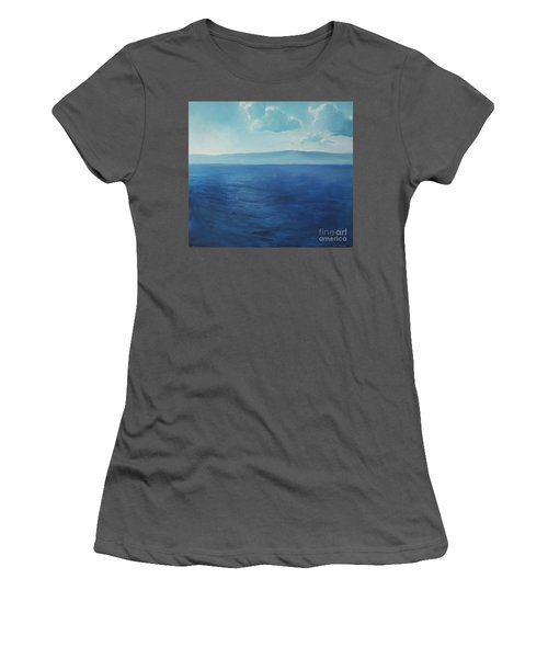 Blue Blue Sky Over The Sea  Women's T-Shirt (Athletic Fit)